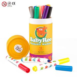 JAR MELO WASHABLE MARKERS (ROTULADORES LAVABLES) 12 COLORS