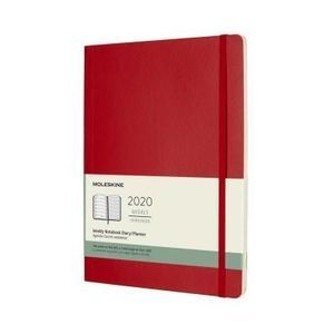 AGENDA MOLESKINE MOLESKINE 2020 WEEKLY PLANNER, 12M, EXTRA LARGE, SCARLET RED, SOFT COVER (7.5 X 9.75)