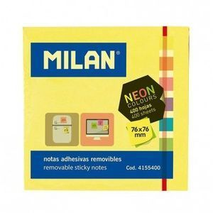 BLOC 400 NOTES ADHESIVES 76X76 NEON