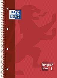 LLIBRETA OXFORD A4 TD 80 FULLS - VERMELLA