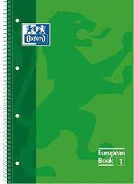 LLIBRETA OXFORD A4 TD 80 FULLS - VERD