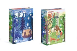 PUZZLE NIGHT AND DAY IN THE FOREST