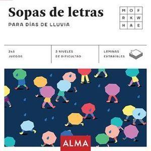 SOPA DE LETRAS PARA DÍAS DE LLUVIA