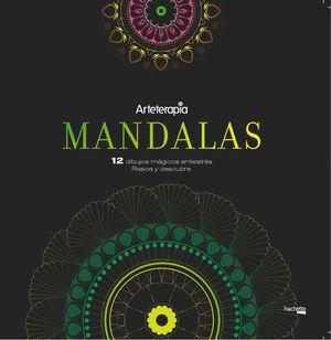 ARTETERAPIA: MANDALAS. 12 DIBUJOS MÁGICOS: RASCA Y DESCUBRE