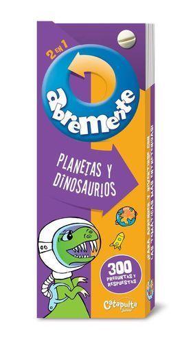 ABREMENTE 2 EN 1: PLANETAS Y DINOSAURIOS
